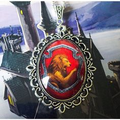 Hogwarts House Crest Necklace -Ravenclaw Hufflepuff Slytherin... ❤ liked on Polyvore featuring jewelry, necklaces, stainless steel jewelry, stainless steel charms, stainless steel jewellery, pendant necklace and pendant jewelry