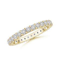 Love this Jewelry Style from Angara! Prong Set Diamond Eternity Wedding Band