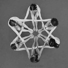Sacred Geometric ART created using Human Bodies only Black and White Colorful Naked . Yoga Photography, Creative Photography, Group Photography, White Photography, Wow Photo, Partner Yoga, Dance Poses, Group Yoga Poses, Yoga For Kids