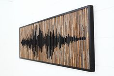 Madera de la pared arte abstracta de la onda acústica