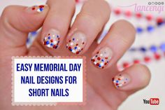 LancenGi: Easy Bubble Memorial Day Nail Art Designs For Short Nails