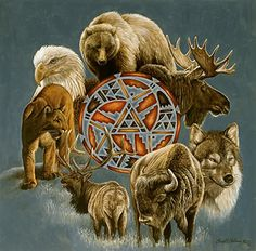 First Nations ~ Native American animal spirit guides/totems