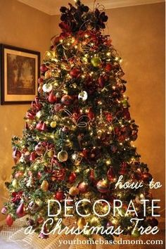 How to decorate a Christmas tree tutorial to create a lush and full tree. Easy to follow and lots of photos.