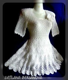Платье крючком ЛИЛИЯ