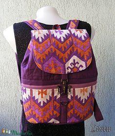 Textil hátizsák népi mintázatú anyagból (Lintu) - Meska.hu Textiles, Lany, Diaper Bag, Backpacks, Fashion, Wallets, Bags, Moda, Fashion Styles