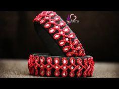 Silk thread Crochet Designer bangle Tutorial - YouTube Silk Thread Bangles Design, Silk Bangles, Thread Jewellery, Tatting Jewelry, Diy Jewelry, Handmade Jewelry, Jewelry Making, Jewelery, Diy Necklace Bracelet