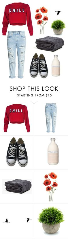 """""""CHILL"""" by lenka-skodiova on Polyvore featuring H&M, Converse, Pearl & Queenie and Zara Home"""