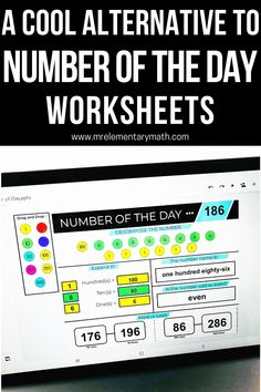 Interactive Number of the Day activities for building number sense. Great for math warm ups! Expanded Notation, Number Sense Activities, What's The Number, Classroom Routines, Math Manipulatives, Word Pictures, Elementary Teacher, Teaching Tips, Worksheets