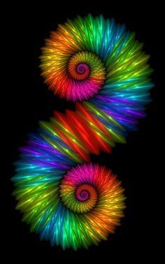 Swirling rainbow colors. ️                                                                                                                                                      Más