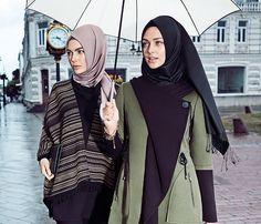 Kışlık tesettür kombinleri, yeni trend kışlık tesettür elbiseler, trikolar ve kışlık eşarp modelleri sizleri bekliyor !