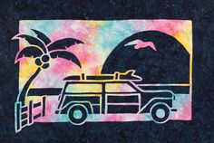 Gone Surfing 2 Fabric Applique Quilt Pattern from Pacific Rim Quilt Company