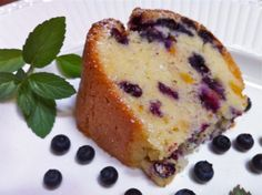 Blueberry Peach Pound Cake...before noon, I call in coffee cake: )