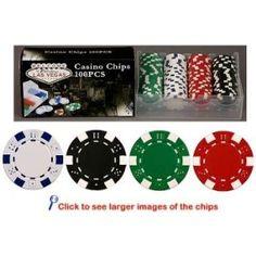 100 11.5 gram Poker Chips in PVC Case w/Lid