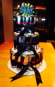 Red Bull Birthday Cake. Someone please do this.