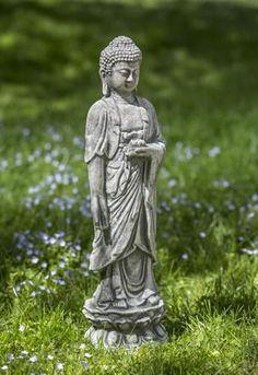Standing Lotus Buddha Statuary