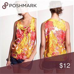 JCrew Silk Top J.Crew Impressionist Floral Cami. 100% Silk. Perfect condition.  Size 0/XS J. Crew Tops