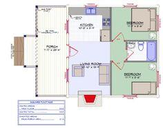 Exploren el interior de 'Springbrook,' y cómo cada centímetro de sus 50 metros cuadrados se ha aprovechado al máximo Large Log Cabins, Small Log Cabin, Tiny House Cabin, Tiny House Plans, Log Cabin Homes, Cozy House, Log Cabin Floor Plans, Log Cabin Kits, House Floor Plans