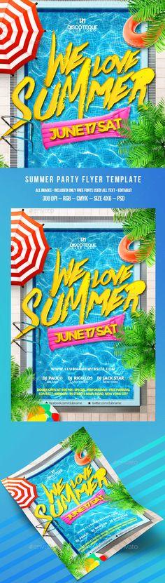Summer Flyer Template PSD. Download here: http://graphicriver.net/item/summer-flyer/16088932?ref=ksioks