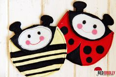 Felt Ladybug purse pattern