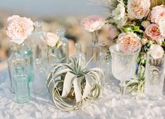 Image result for sea glass beach wedding table decor