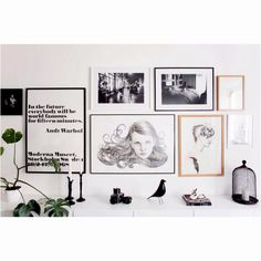 My Eames bird does get about a bit.look at him with the nice frames in this house. Scandinavian Home Interiors, Scandinavian Style, Scandinavian Christmas, Inspiration Wand, Interior Inspiration, Design Inspiration, Picture Wall, White Picture, Photo Wall