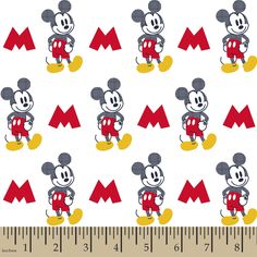 Mickey Pattern Fill Cotton Fabric