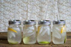 Four Mason Jar Tumblers  - Summer Entertaining - Eco Friendly Living. $ 40.00, via Etsy.