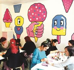 <p>The nail artists' creativity and personality shine through as they create designs for clients.</p>