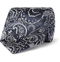 EtroPatterned Woven-Silk Tie