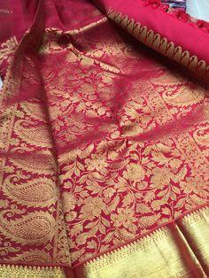 Pure Kanchipuram Saree by Casipillai Designer Collection www.facebook.com/Casipillai  For more information call +447931615302