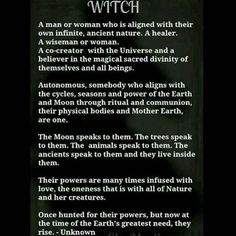 A #beautiful description of what a #Witch is and believes