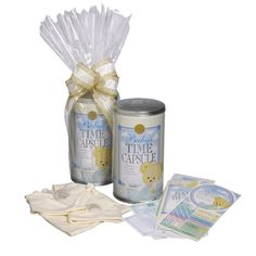 Gourmet Basket Supplies Baby Time Capsule from Classic Gifts.