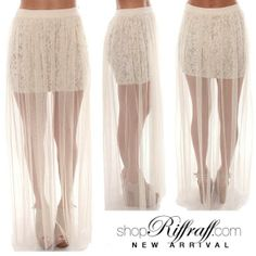 Stunning floral patterned high waisted mini skirt with tulle overlay! #FREESHIPPING