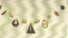 Garnet & gold necklace