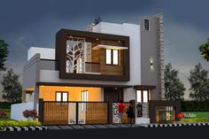 House Balcony Design, House Outer Design, 2 Storey House Design, House Outside Design, Kerala House Design, New Modern House, Contemporary House Plans, Building Elevation, House Elevation