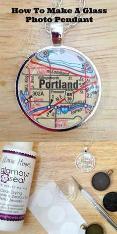How to make a glass photo pendant. Great gift DIY.