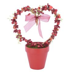 Valentine Day Kiss, Valentine Stuff, Happy Love Day, Michael Store, Valentines Day Decorations, Topiary, Berries, Projects To Try, Crafty