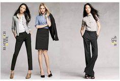 j. crew work attire - cardigan + blouse