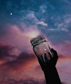 Jar of stars in the night VSCO wallpaper - Aesthetic Pastel Wallpaper, Cute Wallpaper Backgrounds, Pretty Wallpapers, Aesthetic Wallpapers, Artistic Wallpaper, Wallpaper Pictures, Night Sky Wallpaper, Galaxy Wallpaper, Galaxy Painting
