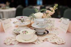 vintage teacup centre pieces