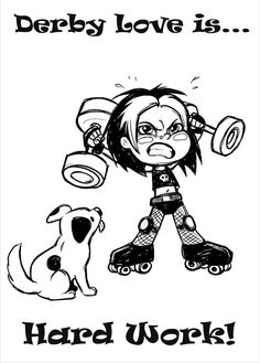Lil Rollers art by Abby Ryder  #rollerderby #rollergirl