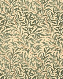 Willow Boughs by William Morris. The Original Morris & Co - Arts and crafts, fabrics and wallpaper designs by William Morris & Company William Morris Tapet, William Morris Wallpaper, Morris Wallpapers, Print Wallpaper, Fabric Wallpaper, Pattern Wallpaper, Wallpaper Designs, Hall Wallpaper, Brown Wallpaper