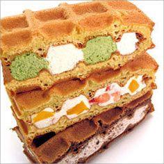 Very beautiful waffle cake