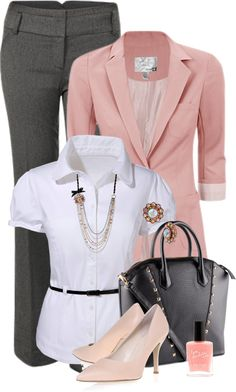 "Chic Professional Woman Work Outfit. ""Work Look"" by tajarl ❤ liked on Polyvore"