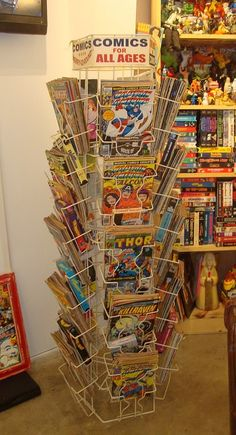 1000 images about comic book spinner racks on pinterest comic books ebay search and comic - Comic book display shelves ...
