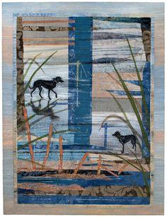 Beach Boy 2 by Hilary Beattie.  2012 Festival of Quilts (UK).