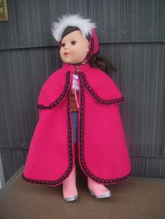 Anna Cape and Hat for  an American Girl by SimplyAdorableSewing