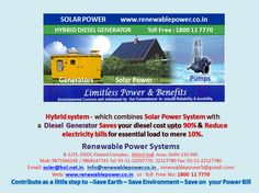 SECI Hybrid System Saves your Diesel cost upto 90% & Reduce electricity bills for essential load to mere 10%.