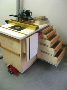 Incra router table cabinet woodworking pinterest router incra tools incra photo gallery russ alexander shop storagerouter tableworkshoptableswoodworking projectsphoto galleriesateliermesaswoodworking plans keyboard keysfo Images