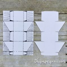 Diagonal-Lidded Cube Box with Facebook Live Video Tutorial - The Paper Pixie